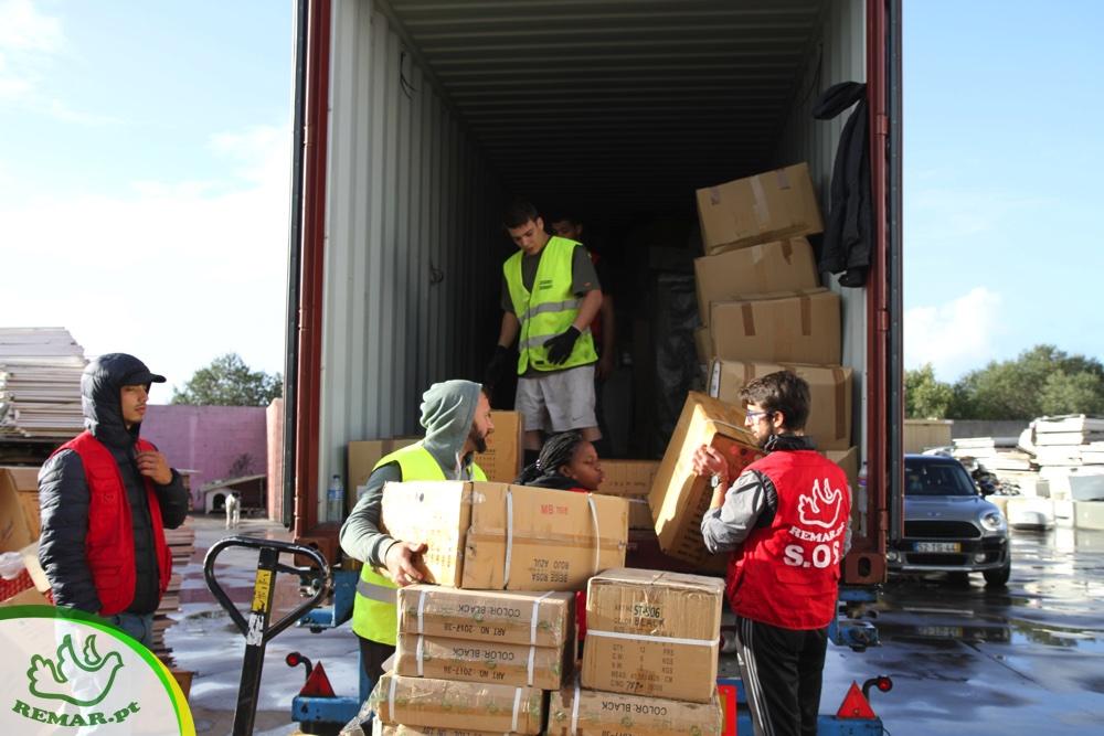 Contentores de ajuda humanitária para Africa e America Latina