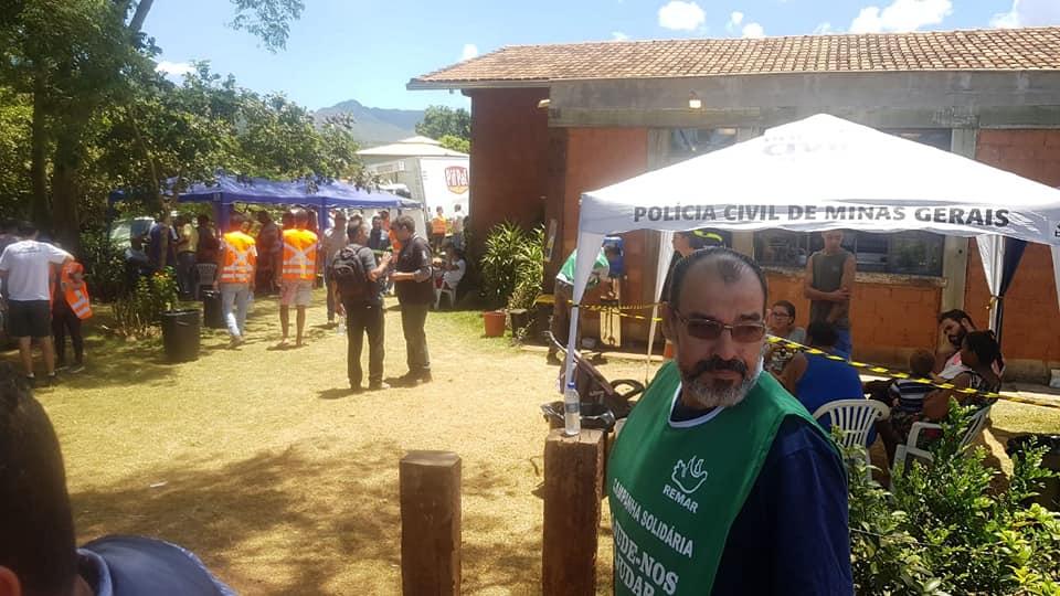 Equipa para apoiar as vitimas da tragédia em Brumadinho