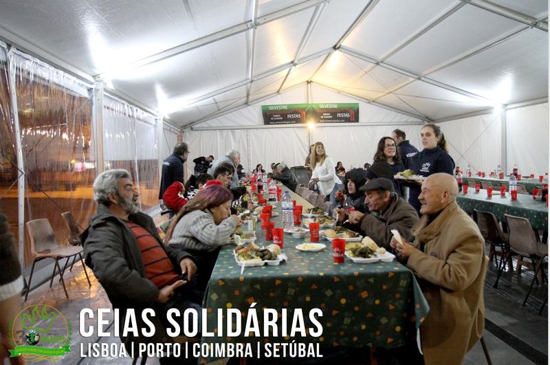 Jantares solidários gratuitos para os sem-abrigo