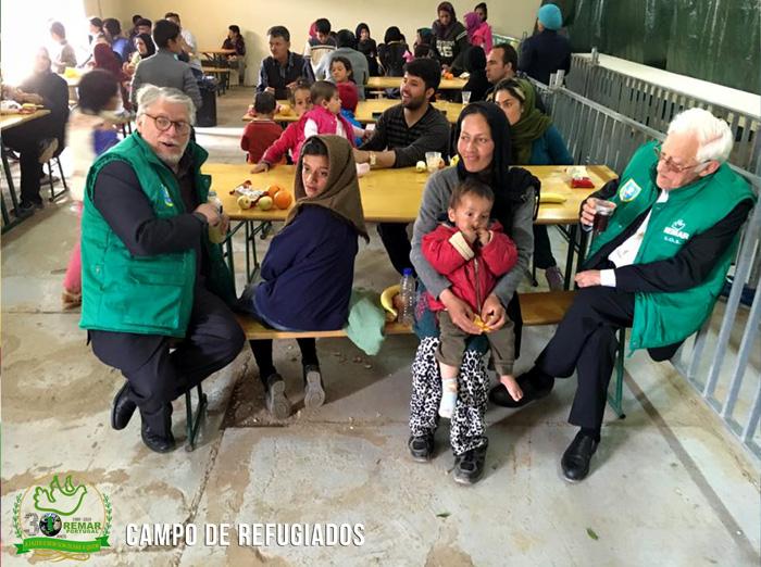 presença de apoio nos campos de refugiados Grécia