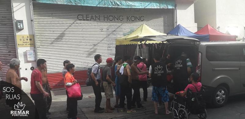 Distribuição de alimentos Projeto SOS