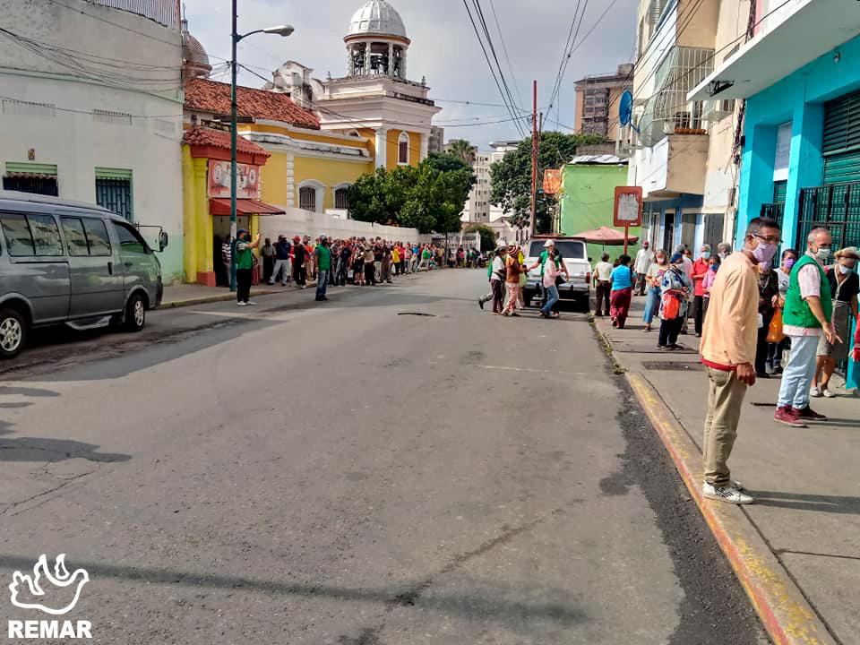 Apoio aos mais carenciados em Venezuela
